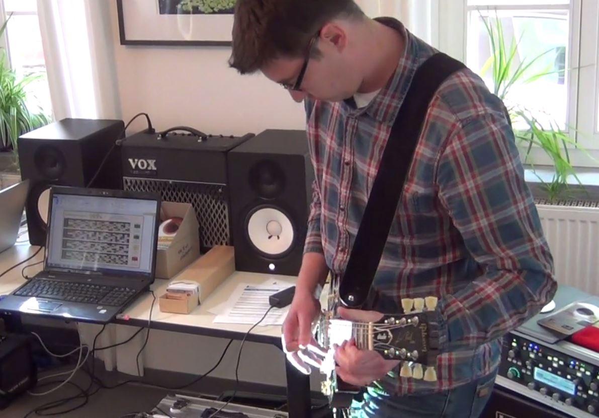 Live Präsentation meines komponierten Gitarrensolos